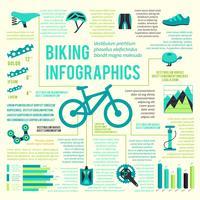 Infográfico de ícones de bicicleta vetor