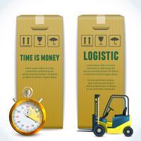 Banners verticais logísticos vetor