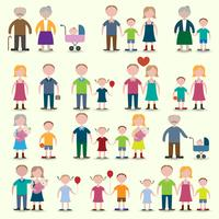 Conjunto de ícones de família vetor