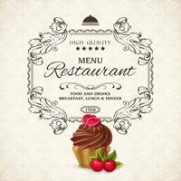 Modelo de menu do restaurante vetor