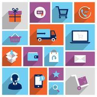 Compras e-commerce ícones