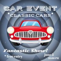 Cartaz de evento de carro retrô