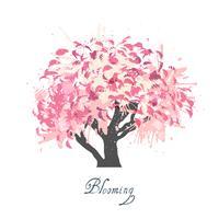 Esboço de flor de árvore de maçã