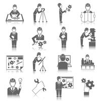 Jogo, de, engenheiro, ícones