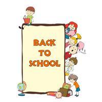 Cartaz de desenho de escola de crianças