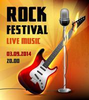 Cartaz de concerto de rock vetor