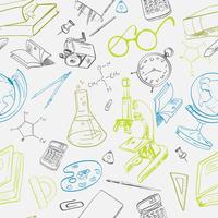 Doodle de ícone de educação sem emenda