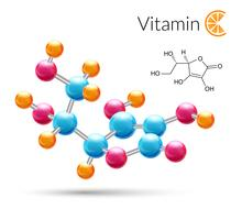 Molécula de vitamina C vetor
