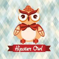 Cartaz de coruja hipster