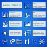 Infográfico de ícones de gráfico de negócios vetor