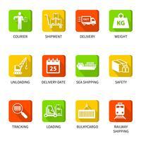 Botões de ícones logísticos