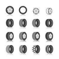 Conjunto de ícones de pneus vetor