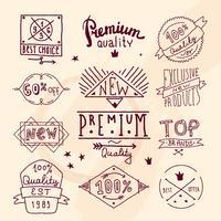 Emblema de qualidade retro premium vetor