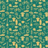 Padrão sem emenda de bicicleta vetor