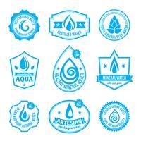 Rótulo de água vetor