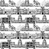 Plano de fundo sem emenda com edifícios do governo vetor