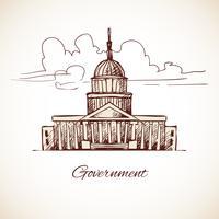 Edifício do governo vetor