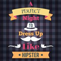 Poster retro hipster