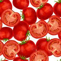 Padrão sem emenda de tomate vetor