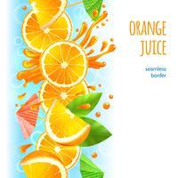Fronteira de suco de laranja