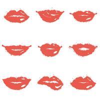 Conjunto de lábios
