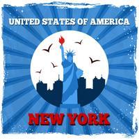 Poster retro de Nova Iorque EUA vetor