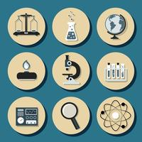 Ícones planas de química