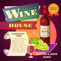 Cartaz da casa do vinho