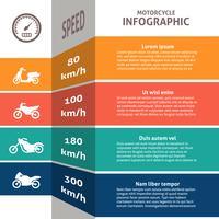 Carta de classificação de infográfico de motociclista vetor