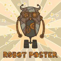 Design de robô hipster vetor