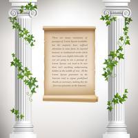 Cartaz de colunas antigas vetor