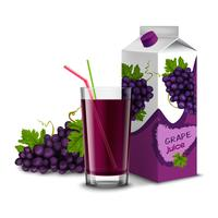 Conjunto de suco de uva vetor