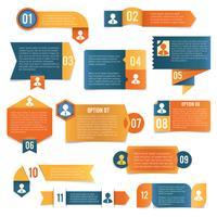 Rótulos de infográficos de papel