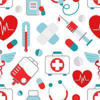 Padrão sem emenda de medicina vetor