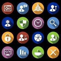 Conjunto de ícones de SEO plana vetor