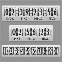 Temporizador do relógio da contagem regressiva vetor