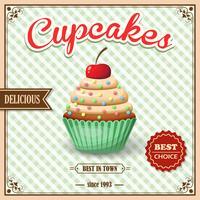 Cartaz do café do cupcake vetor