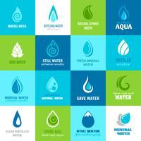 Jogo, de, água, ícones vetor