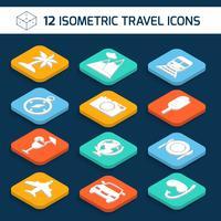 Conjunto de ícones de viagens vetor