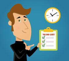 Lista de tarefas concluída vetor