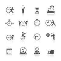Conjunto de ícones de gerenciamento de tempo