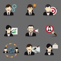 Ícones de pessoas de negócios vetor