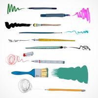 Esboço de ícone de ferramentas de desenho vetor