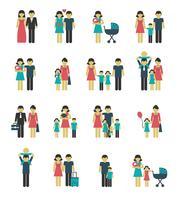 Conjunto de ícones de família