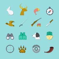 Jogo, de, caça, ícones