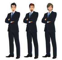 Jogo, de, homens negócio