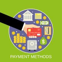 Conceito de métodos de pagamento vetor