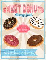 Poster retro de doces