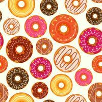 Padrão sem emenda de donut vetor