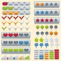 Classificação de conjunto de ícones vetor